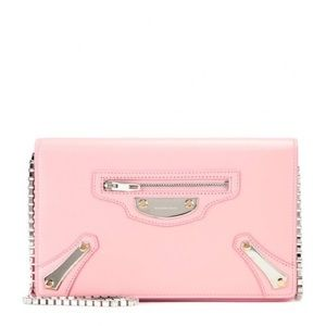 Balenciaga Chain Pink Leather Shoulder Bag